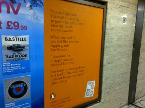There's a series of these glorious Penguin poster ads.
