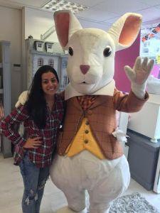 The White Rabbit visited Mi Neni