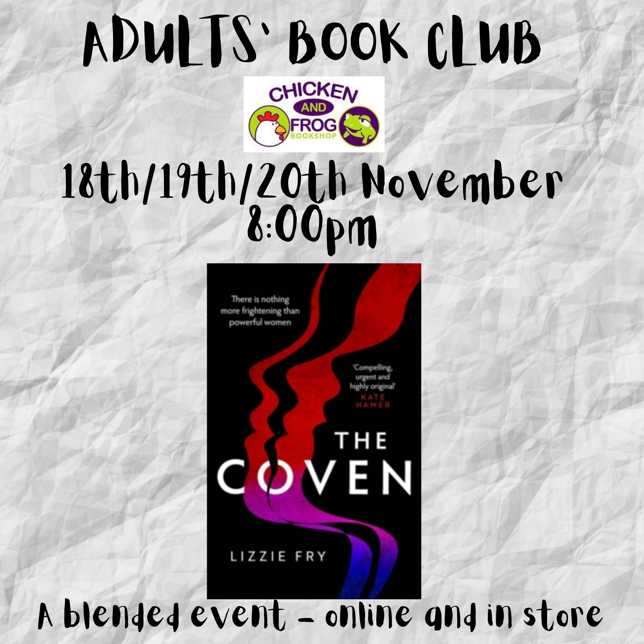 BOOK CLUB - ADULTS ONLY!-1